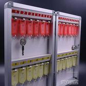 鑰匙櫃 鋁合金24位鑰匙箱多功能壁掛式管理收納保管鑰匙盒公司門房鎖匙櫃 第六空間