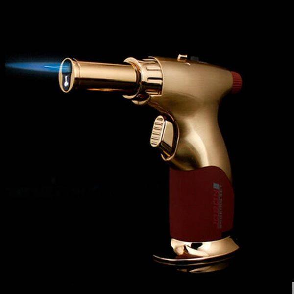 JOBON 金屬拉絲 直沖打火機 創意焊槍雪茄專用火機 雪茄槍 點火機 直衝打火機(重量感)高11厘米