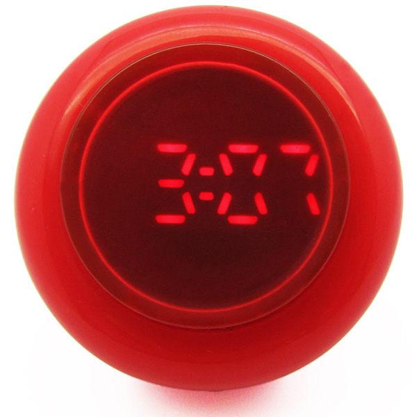 CLICK 復古大圓鍵快打電子腕錶-紅