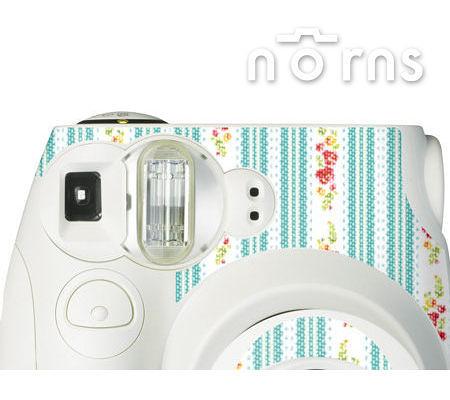 Norns MINI7S 專用FUJIFILM日本富士原廠拍立得相機機身貼紙【White Flowerstripe款】Norns