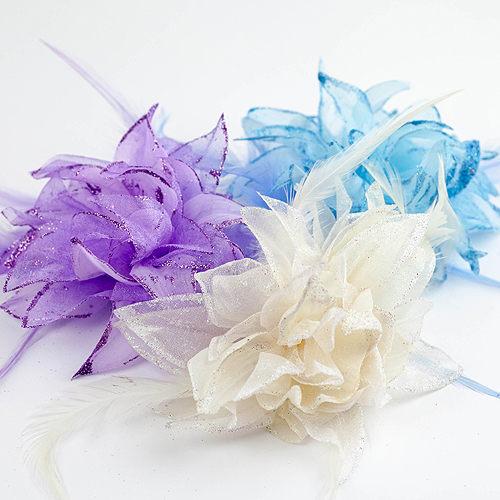 非常婚禮用品 粉嫩亮晶綁髮/胸花夾