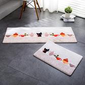 時尚創意地墊185 廚房浴室衛生間臥室床邊門廳 吸水長條防滑地毯(40*60cm)