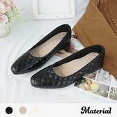 包鞋 菱紋優雅平底鞋 MA女鞋 T1770