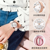 兒童帶鑽手錶 女孩防潑水電子手錶 送兒童交換禮物