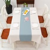 桌巾 北歐現代簡約桌旗原創火烈鳥餐桌布藝茶幾布家用臥室床旗玄關櫃巾