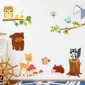 Loxin 可愛壁貼 森林動物 牆貼 DIY組合壁貼 壁紙 背景貼【BF1485】
