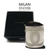 【台中米蘭站】CHANEL 鋼製刻印粗版手環