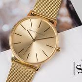A/X Armani Exchange 亞曼尼 AX5536 Women's Dress 鍍金米蘭帶簡約腕錶 熱賣中!