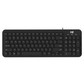 海志Q1朋克圓鍵帽有線鍵盤復古打字可愛靜音無線鍵盤巧克力辦公家用筆記本臺式電腦