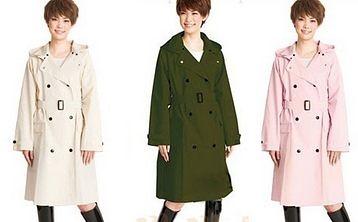 日本加厚成人雨衣 时尚雨衣 雨衣女款- Lin001(F)
