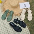 夾腳涼鞋 2020新款涼鞋女夏平底夾腳學生韓版百搭海邊度假羅馬沙灘鞋仙女風 進店領券