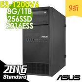 【現貨】ASUS伺服器 TS100E9 E3-1220v6/8G/1T+256/2016STD 商用伺服器