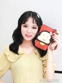 小猴子三色補丁韓版迷你可愛小包包女帆布手提包學生零錢手機包袋  英賽爾3c專賣店