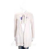 MARELLA 米白色混紡羊毛領結長版外套 1710596-03
