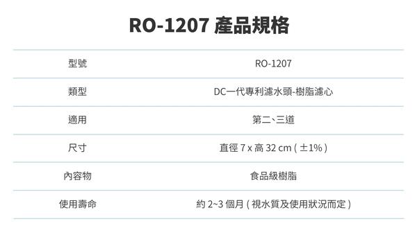 [群創淨水] Buder 普德 RO-1207 DC一代Resin食品級樹脂濾心