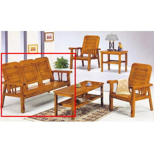 沙發 PK-306-6 313型柚木三人椅(不含茶几)【大眾家居舘】