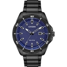 CITIZEN 星辰 光動能運動風手錶-藍x黑/45mm AW1585-55L
