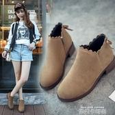 2020韓版秋季新款英倫百搭女靴平底短靴網紅女鞋單靴女馬丁靴粗跟 依凡卡時尚