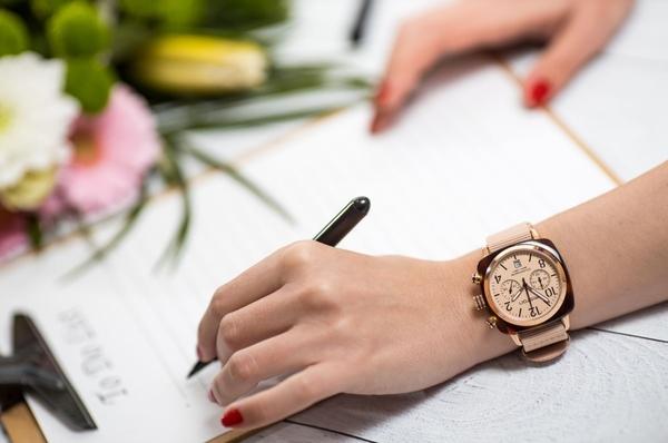 BRISTON 手工方糖錶 裸色 玫瑰金框 時尚百搭 禮物首選