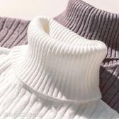 保暖打底衫 加絨加厚高領毛衣女冬套頭韓版長袖針織短款打底衫緊身保暖上衣 維科特3C