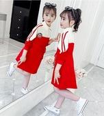 女童洋裝 女童運動連身裙秋裝2020新款洋氣兒童中大童春秋長袖時髦衛衣裙潮 零度3C