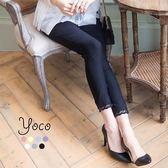 東京著衣【YOCO】典雅舒適蕾絲拼接彈力色褲-XS.S.M.L(6011041)