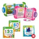 【熱銷初學組】美國 LeapFrog 跳跳蛙 LeapStart Sr. 全英幼童行動學習機-新版(白/粉)+3本學習書