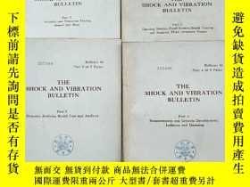 二手書博民逛書店the罕見shock and vibration bulletin part 2+3+4+5合售(P2602)