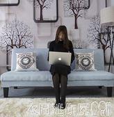 沙發沙發小戶型出租房單雙人經濟型簡易折疊床冬夏兩用三人位布藝沙發 衣間迷你屋LX