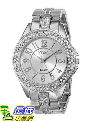 [美國直購 USAShop] 手錶 XOXO Women s XO5463 Rhinestone Accent Silver-Tone Analog Bracelet Watch $1072