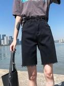五分牛仔褲女寬松直筒港味騎行褲顯瘦2020新款夏高腰5分短褲中褲 第一印象