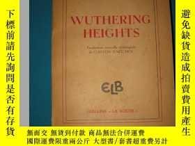 二手書博民逛書店WUTHERING罕見HEIGHTS呼嘯山莊,法文原版,1947