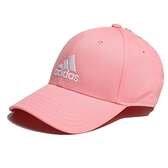 ADIDAS 粉橘 刺繡 三線 老帽 基本款 (布魯克林) FK0893
