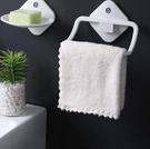 毛巾架 浴室衛生間免打孔單桿兒童掛鉤桿晾掛架子壁掛小型宿舍置物【快速出貨八折鉅惠】