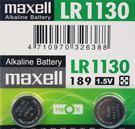 maxell LR1130 189 鈕扣型電池/一排10顆入(促20) 1.5V 鈕扣電池 手錶電池-傑梭