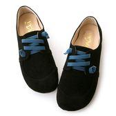 amai MIT台灣製造。童話撞色休閒饅頭鞋 黑