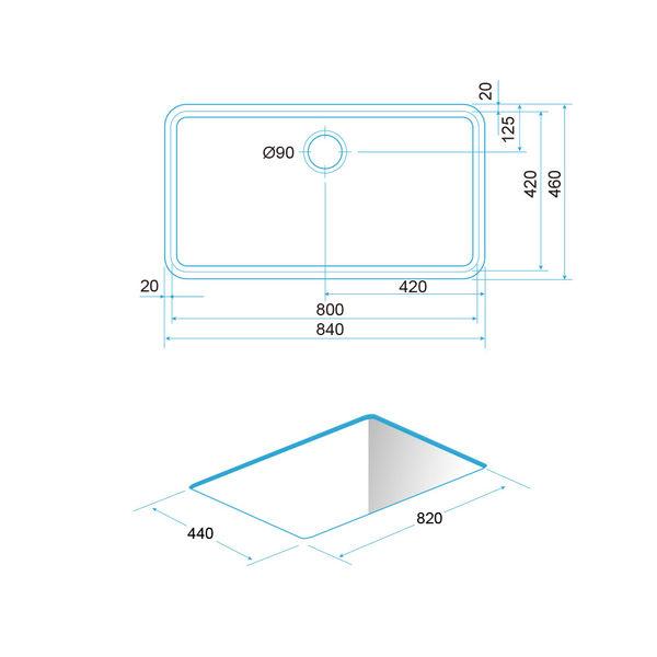 【歐雅系統家具】REGINOX  荷蘭皇冠水槽 L-2584(平接式)