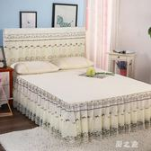 防滑夏季蕾絲花邊床裙式床罩單件1.8m2.0M床套席夢思保護套 qz6856【野之旅】