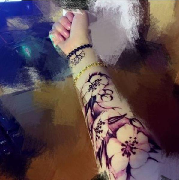 花臂紋身貼紙   梅花   日韓系水轉印紋身貼紙 想購了超級小物