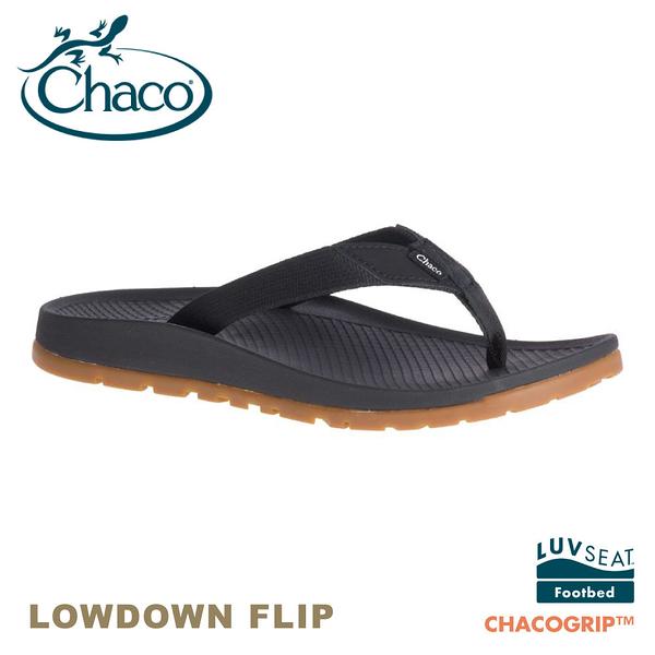 【CHACO 美國 女 LOWDOWN FLIP夾腳拖鞋《黑》】CH-LFW01H405/海灘拖