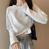 【Charm Beauty】白色 打底衫 女春 秋裝 2021年 新款 韓版 百搭 長袖t恤 女ins潮 超火 上衣服