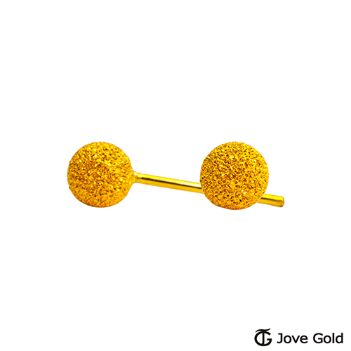 Jove gold 漾金飾 呢喃黃金耳環-小