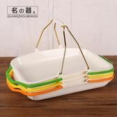 面包提籃長方形塑料托盤蛋糕盤手提籃子烘焙面包房籃子糕點自選盤