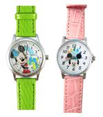 【卡漫城】 特價出清 米奇 皮革 卡通錶 二款選一 ㊣版 迪士尼 Mickey 米老鼠 兒童錶 手錶 女錶 男錶