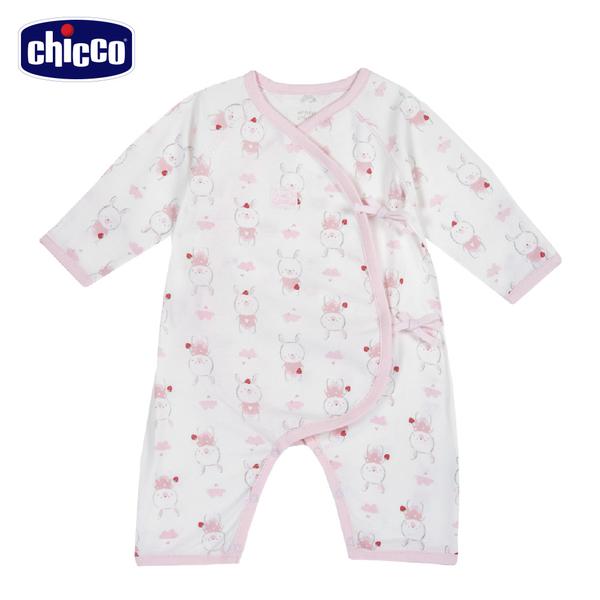 chicco-肚衣式兔裝-草莓小兔