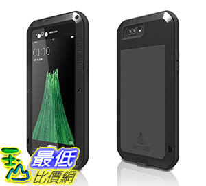 [106美國直購] Love Mei 手機殼 Shockproof Waterproof Metal Aluminum Case For Oppo R11 - Black