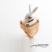 yunique Backyard  國王愛麗絲兔戒指