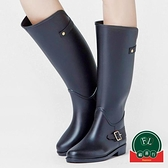 時尚外穿馬靴水鞋雨靴女高筒長筒防水膠鞋防滑雨鞋【福喜行】