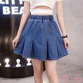 2019夏季新款牛仔短裙女韓版胖妹妹200斤大尺碼高腰半身裙