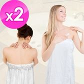 【法式寢飾花季】純品良織-頂級SPA專用純棉厚織浴裙x2件組